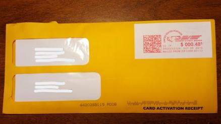 Gift Card Mall Envelope